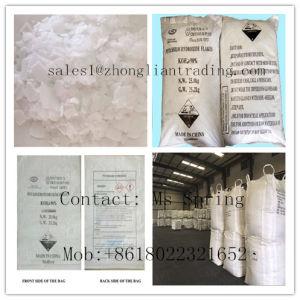 China Manufacturer Potassium Hydroxide Flakes (KOH flakes 90% min) 25kgs Per Bag or 1000kgs Per Bag pictures & photos