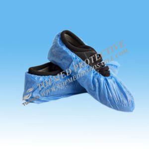 Disposable CPE Shoe Cover, PP Nonwoven Shoe Cover pictures & photos