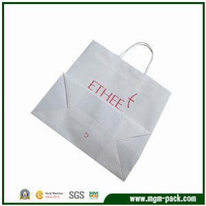 Simple Design White Paper Gift Handbag for Packing pictures & photos
