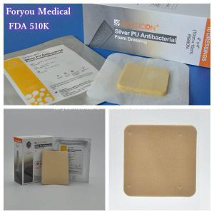2016 Premium Wound Dressing Silver Antibacterial Foam Dressing Sfd2008 pictures & photos