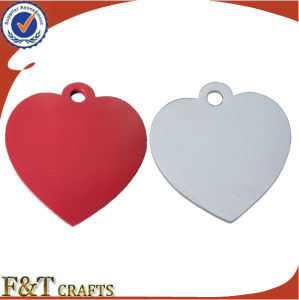 Custom Heart Shape Cheap Anodized Aluminum Metal Dog Tags (FTDT2028A) pictures & photos