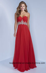 Sweetheart Evening Dress Beading Chiffon Party Prom Gowns J432 pictures & photos