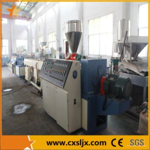 PVC Conical Twin Screw Plastic Extruder pictures & photos
