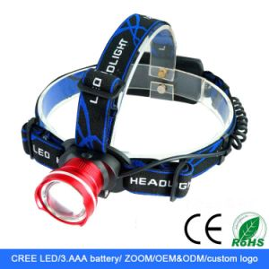 CREE T6 Zoomable 18650/AAA LED Headlight pictures & photos