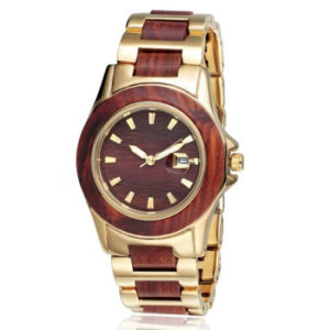 New Environmental Protection Japan Movement Wood-Steel Fashion Watch Bg306 pictures & photos