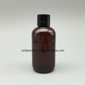 100ml Amber Plastic Boston Bottle for Cosmetic pictures & photos