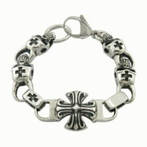 2015 Fashion Jewelry Stainless Steel ID Cross Men Bracelet pictures & photos