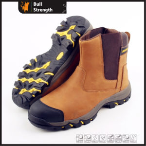 Geniune Leather Safety Boots with Elastic and Steel Toe (SN5217) pictures & photos