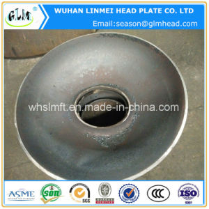 (Q345R) Carbon Steel Dished Boiler Head 650*14 mm with Manhole pictures & photos