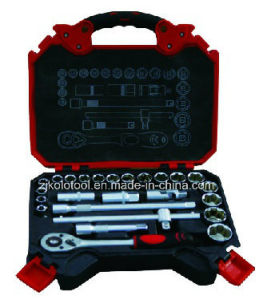 25PC Car Maintenance Hand Tool Box with Combination Sockets pictures & photos