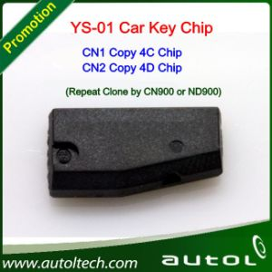 Auto Keys Ys-01 Chip Transponder (CN1 Copy 4C Chip&CN2 Copy 4D Chip) Working with ND900/Cn900 Programmer pictures & photos