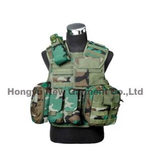 Airsoft Tactical Vest Military Combat Vest with Pistol Holster (HY-V062) pictures & photos