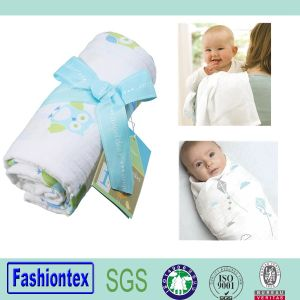 47*47′′ After Wash Cotton Blanket China Manufacturer Baby Swaddle Bamboo pictures & photos