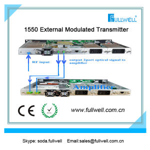 Low Noise with Multi Port 120km 1550nm CATV External Modulation Optical Transmitter pictures & photos