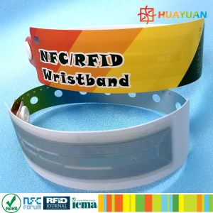 Water Park waterproof MIFARE Ultralight EV1 Disposable RFID Bracelet pictures & photos