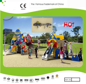 Kaiqi Fun and Colourful Rocket Themed Children′s Playground with Rope Bridge and Slides (KQ21045A) pictures & photos