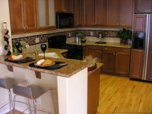 Golden Brown Kitchen Cabinet (GB5) pictures & photos