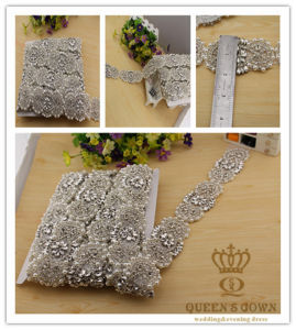 Long Section of The Wedding Dress Rhinestone Belts, DIY Accessories pictures & photos