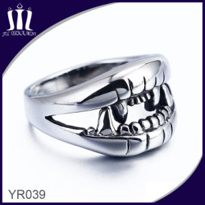 Yr039 Big Teeth Monster Skeleton Ring pictures & photos