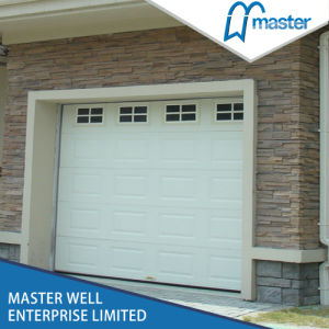 China Style Sectional Garage Door with Window/White Color Steel Door pictures & photos