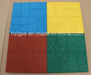 Anti-Slip Rubber Tiles, EPDM Rubber Pavers (A-DJ-34) pictures & photos