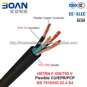 H07rn-F, Rubber Cable, 450/750 V, Flexible Cu/Epr/Pcp (BS 7919/HD 22.4 S4) pictures & photos