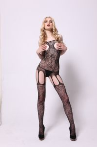 Sexy Fishnet Bodystocking with Open Cup Design 8803 pictures & photos