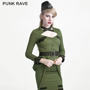 Y-623 Green Halloween New Uniform Style Ladies Slim Blouses pictures & photos