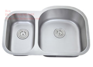 70/30 Stainless Steel Under Mount Double Bowl Kitchen Sink, Stainless Steel Sink, Sink, Handmade Sink pictures & photos