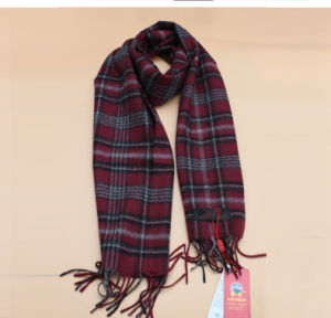 Pure Yak Wool Lattice Scarf/ Cashmere Garment/ Yak Wool Clothing/Fabric/Textile/Knitwear pictures & photos