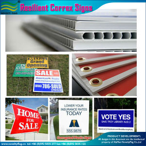Outdoor Advertising Resilient Corrugated Plastic Correx Signs (J-NF32P08004) pictures & photos