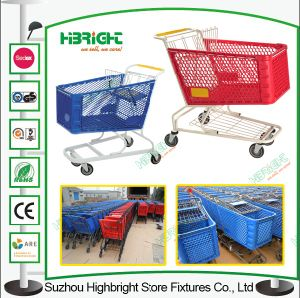 180L Plastic Shopping Trolley for Supermarket pictures & photos