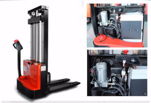 1200kg Electric Stacker with 3stage 5m Mast (ES12-12ES) pictures & photos