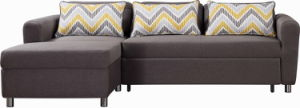 Modern Corner Fabric Sofabed with Big Storage pictures & photos