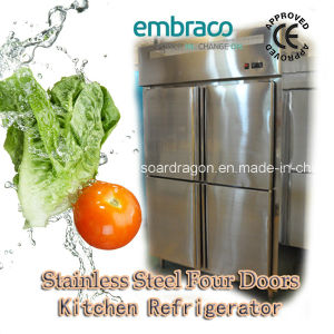 Upright Kitchen Refrigerator with Four Doors pictures & photos