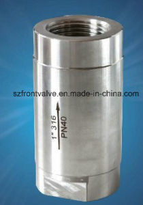 Precision Casting Stainless Steel 3PC Spring Vertical Check Valve pictures & photos