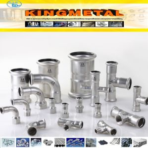 304, 316 Stainless Steel Press Fitting Equal Tee for Heated Water pictures & photos