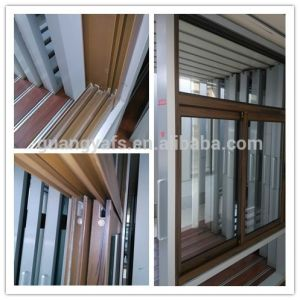 Wood Grain Aluminium Window Door pictures & photos