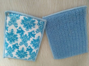 Kitchen Cleaning Sponge with Microfiber Cloth pictures & photos