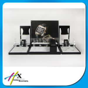 Fashion New Luxury Metal Acrylic Display Wooden Watch Exhibition Stand pictures & photos