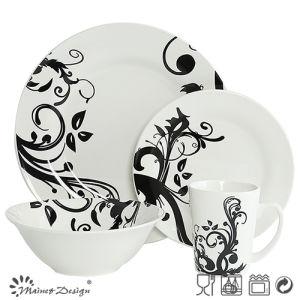 Classic Whole Sale Porcelain with Decal Dinner Set 16PCS pictures & photos