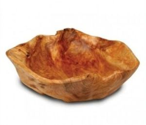 Natural Color Handmade #2240 Extra Large Wooden Fir Root Bowl