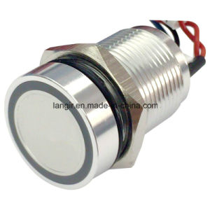 16mm Piezo Pressure Switch, Piezo Switch with Ring Illuminated pictures & photos