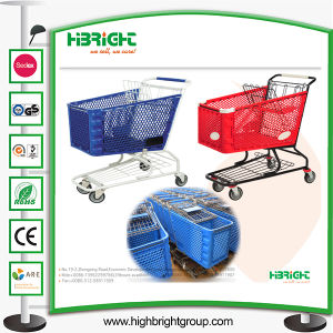 China Factory Plastic Supermarket Shopping Trolley Cart pictures & photos