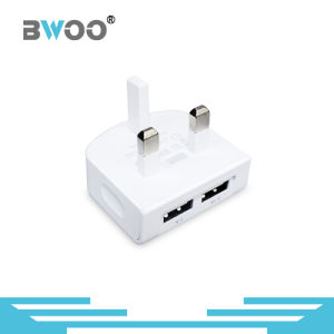 Good Quality Dual USB Wall Charger with UK Plug pictures & photos
