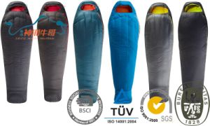 Thicken Warmth High Quality Mummy Single Adult Sleeping Bag pictures & photos