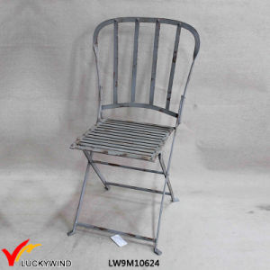 Rustic Vintage Fold Metal Chair with Back pictures & photos