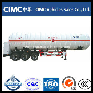 Factory Customized Tri Axle 56m3 LNG Tank with Trailer pictures & photos
