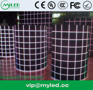 P10 Concave Round Pole LED Display Screen pictures & photos