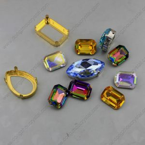 Crystal Loose Stones Octagon Shape Withgolden Claw Settings pictures & photos